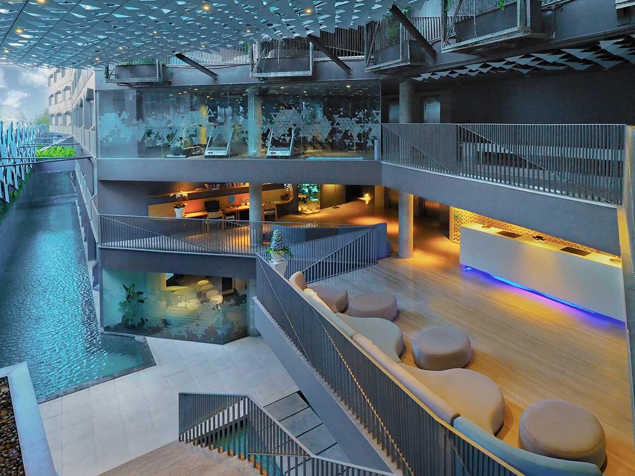 lobby at ize seminyak hotel
